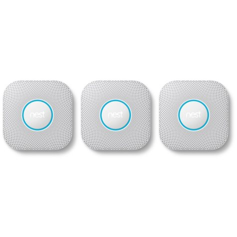 Nest Protect Smoke + CO Alarm 3 pack - Choose Power Type