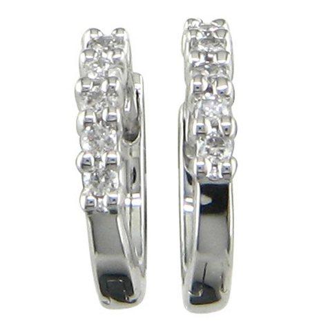 0.15 ct. t.w. Diamond Hoop Earrings in 14K White Gold (H-I, I1)