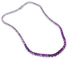Amethyst Necklace in Sterling Silver (32 ct. t.w.)