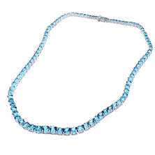 Swiss Blue Topaz Necklace in Sterling Silver (45 ct. t.w.)