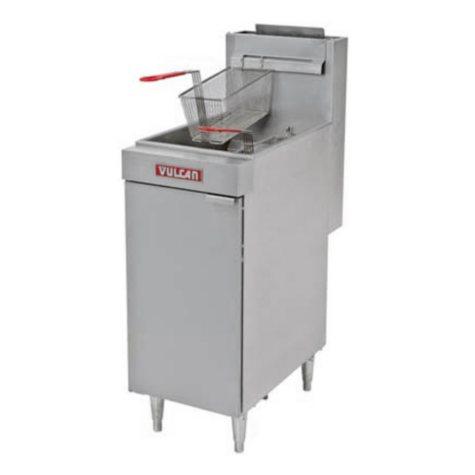 Vulcan LG300-1 35-40 lb. Capacity Free-Standing Natural Gas Fryer
