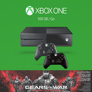 Xbox One 500GB Console Gears of War: Ultimate Edition Bundle with Extra Controller