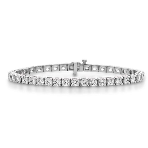 5.71 ct. t.w. Diamond Tennis Bracelet in 14K Gold (H-I, I1)