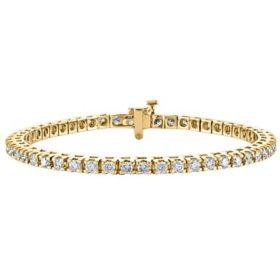2.95 CT. T.W. Diamond Tennis Bracelet in 14K Gold