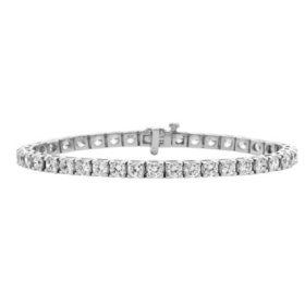 12 CT. T.W. Diamond Tennis Bracelet in 14K Gold (H-I, I1)