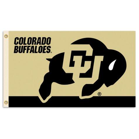 NCAA University of Colorado Buffaloes 3' x 5' Flag with Pole Mount Kit