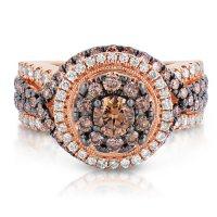 1.95 ct. t.w. Fancy Brown Diamond Ring in 14K Rose Gold (HI-I1)