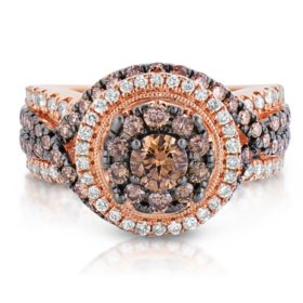 1.95 ct. t.w. Fancy Brown Diamond Ring in 14K Rose Gold (HI-I1)