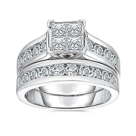 1.95 CT. T.W. Diamond Ring in 14K White Gold (HI,I1)