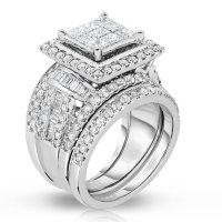 2.95 CT. T.W. Diamond Fashion Ring in 14K White Gold (HI, I1)