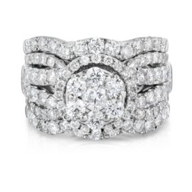 2.95 CT. T.W. Diamond Engagement Set in 14K White Gold (HI, I1)