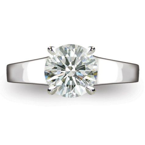 2.0 ct.  Round Brilliant-Cut Diamond Solitaire Ring in Platinum  (I, VS2)