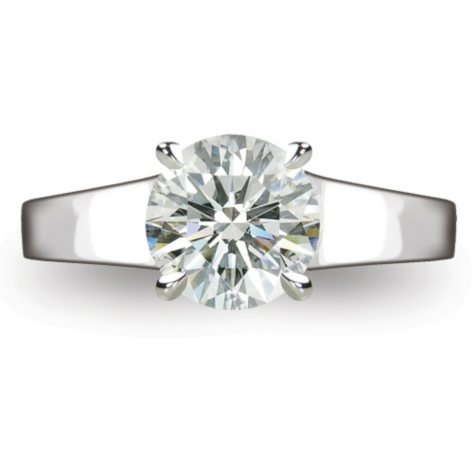 1.62 ct. Round Brilliant-Cut Diamond Solitaire Ring in Platinum  (I, VS1)