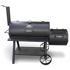 Smoke Hollow Barrel Grill with Offset Firebox