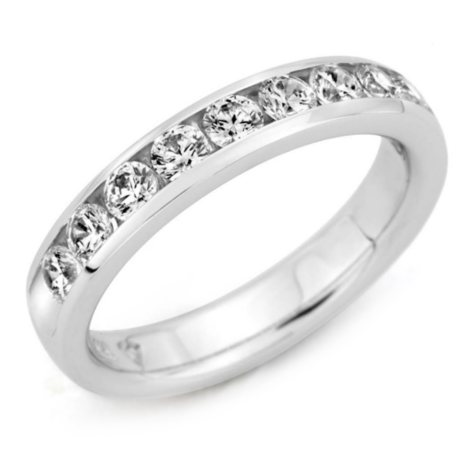 .25 ct. t.w. Channel-Set Round-Cut Diamond Band in Platinum (H-I, I1)