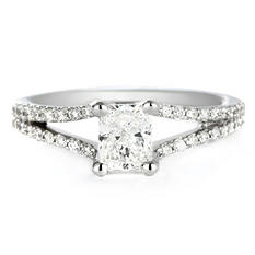 Premier Diamond Collection 1.01 CT. T.W. Radiant Diamond Engagement Ring in 18K White Gold - GIA & IGI (F, VS1)