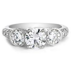 Premier Diamond Collection 2.08 CT. T.W. Three-Stone Diamond Engagement Ring in 18K White Gold - GIA & IGI (I, SI1)