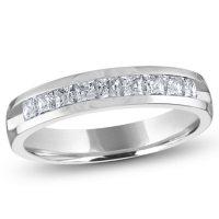 0.50 ct. t.w. Channel Set Princess Diamond Band in 14K White Gold (H-I, I1)