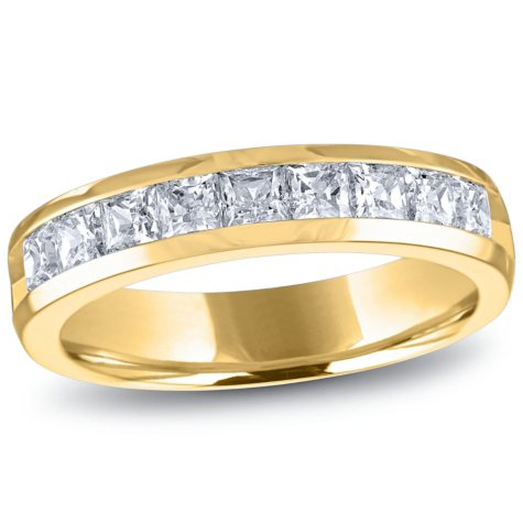 1.00 ct. t.w. Channel-Set Princess Diamond Band in 14K Yellow Gold (H-I, I1)