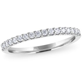 0.25 CT. T.W. 17-Stone Shared Prong Diamond Band in 14K Gold (H-I, I1)