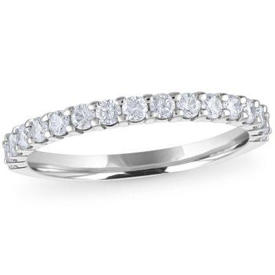 band ring sand matt diamantiert eckig silber 925 17,5 mm