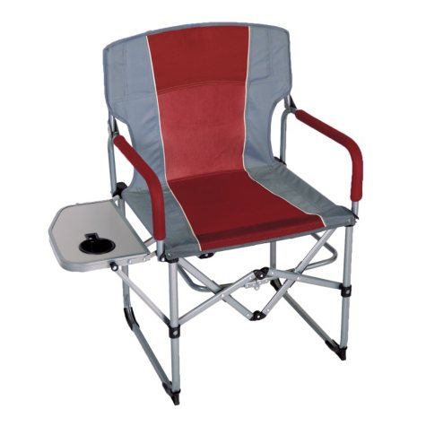 CampSmart® Portable Director's Chair - Maroon and Gray