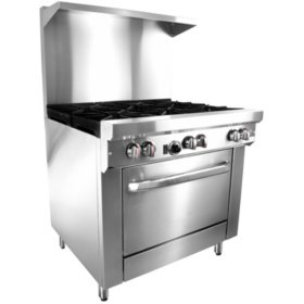 "Gusto Restaurant Range, Propane Gas (6 Burners, 36"")"