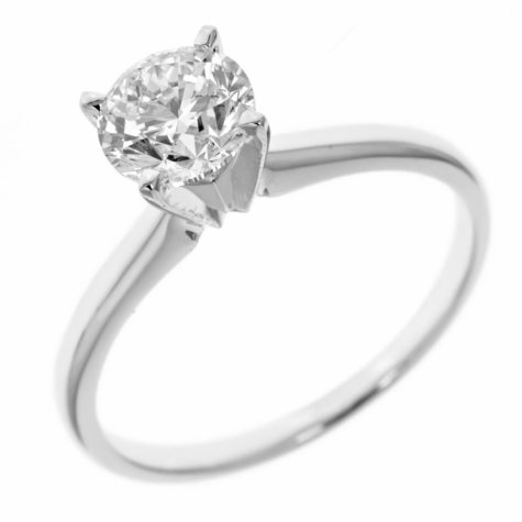 0.31 ct. Round-Cut Diamond Solitaire in 14k White Gold (H-I, SI2)