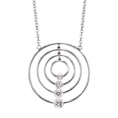 .50 ct. t.w. Diamond Circle Journey Pendant (I,I1)
