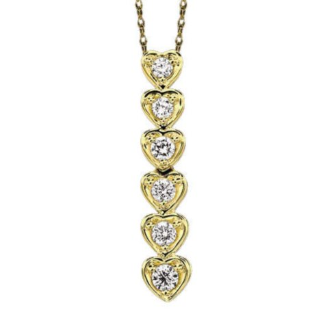 1 ct. t.w. Diamond Heart Journey Pendant (I, I1)