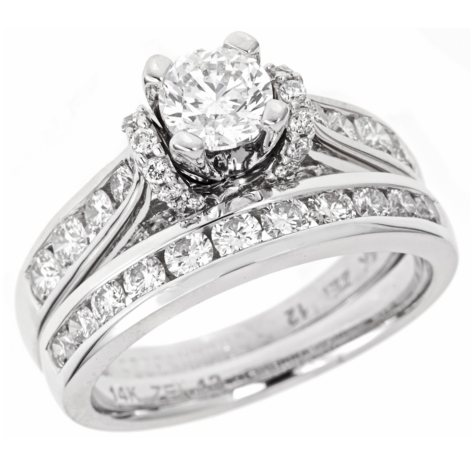 2.00 CT.T.W. Regal Diamond Engagement Ring Set in 14K White Gold (I, SI2)