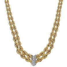 Rope Chain Necklace in 14K Yellow Gold