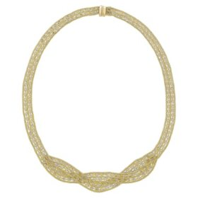 14K Gold Twist Necklace