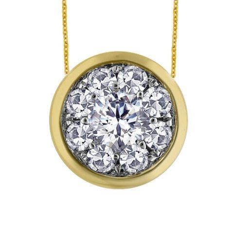 0.63 ct. t.w. Unity Diamond Bezel Pendant in 14k Yellow Gold (I, I1)