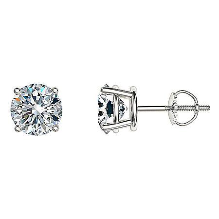 88a5ab007 1.95 CT. T.W. Round Diamond Stud Earrings in 14k Gold - Sam's Club