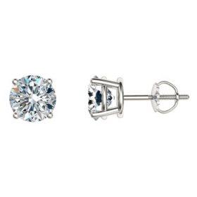 1.95 CT. T.W. Round Diamond Stud Earrings in 14k Gold