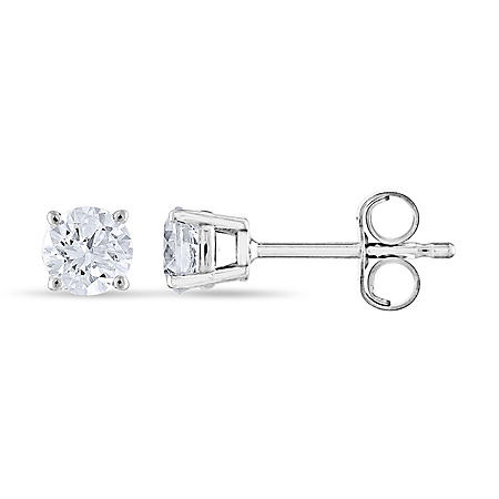 0.47 CT. T.W. Round Diamond Stud Earrings in 14K Gold (I, I1)