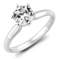 1.95 CT. T.W.. Round Diamond Solitaire Ring in 18K Gold with Platinum Head (H, VS2)