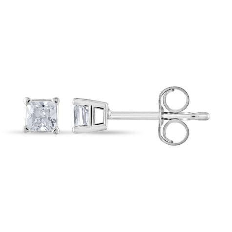 0.23 ct. t.w. Princess Diamond Stud Earrings in 14k White Gold (H-I, SI2)