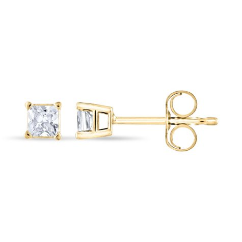 0.23 ct. t.w. Princess Diamond Stud Earrings in 14k Yellow Gold (H-I, SI2)