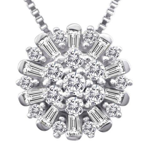 0.50 ct. t.w. Diamond Pendant in 14k White Gold (I, I1)