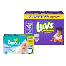 Luvs Ultra Leakguards Pick Diaper & Wipe Bundle (Choose Your Size)