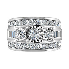 3.95 CT. T.W. Single Center Bridal Ring in 14K White Gold