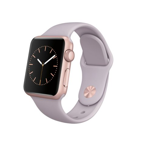 Apple Watch Sport - 38mm Rose Gold Aluminum Case - Lavender Sport Band