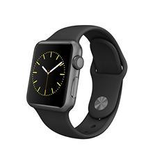 Apple Watch Sport Series 1- 38mm Space Gray Aluminum Case - Black Sport Band
