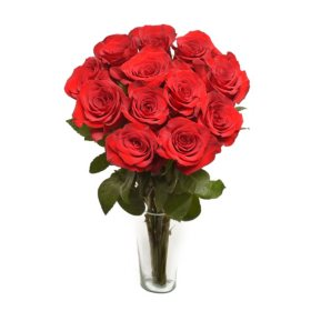 Long Stem Red Roses Valentine's Day Bouquet, PREORDER (12 stems)