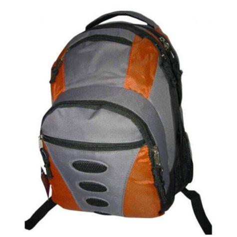 "Bazic 16.5"" Backpacks - Red/Grey - 24 pk."