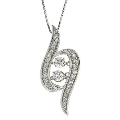 0.46 CT. T.W. Eternally Us Diamond Pendant in 14k White Gold (I, I1)
