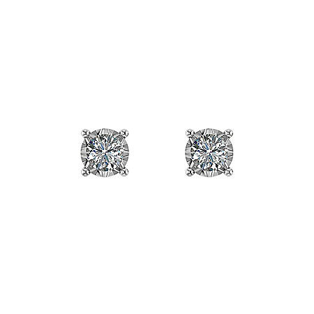 ae938e9acf56d 13 CT. T.W. Diamond Solitaire Stud Earrings in 14K White Gold ...