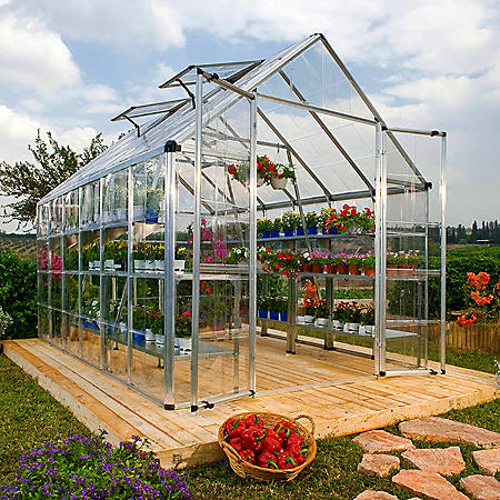 Palram Snap & Grow Silver Greenhouse - 8' x 16'